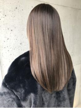 髪質改善&ハイライトカラー